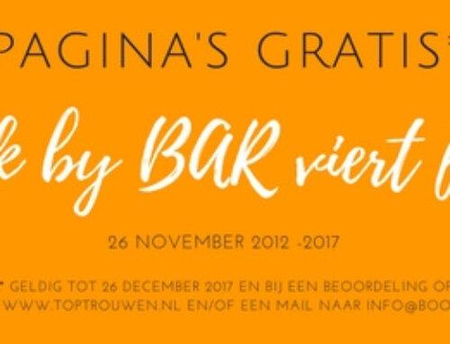 Book By BAR viert feest met jou!