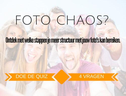 Fotochaos bij jou? Doe de gratis test.