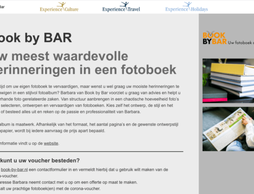 Reis op de Book By BAR manier